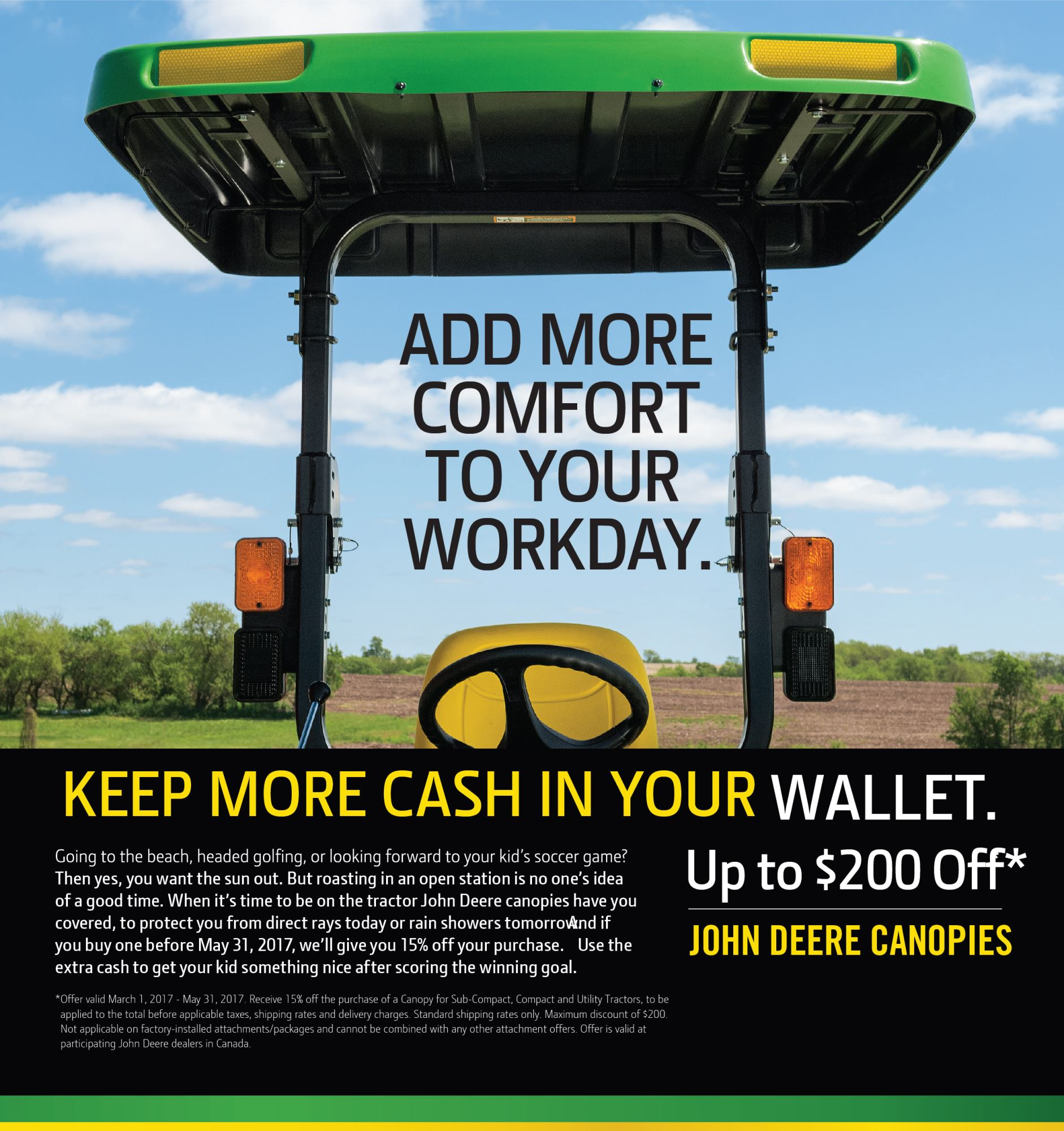 john deere canopies - prairiecoast equipment
