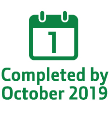 completed by October 2019