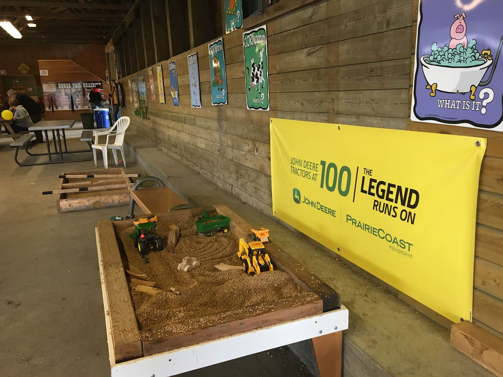 100 Years of the John Deere tractor Sandbox Play Area