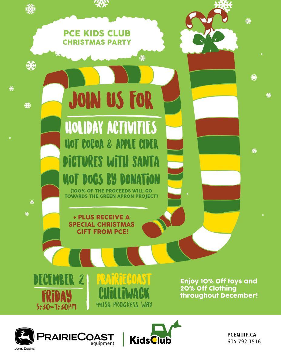 Chilliwack - PCE Kids Club Christmas Party - PrairieCoast equipment